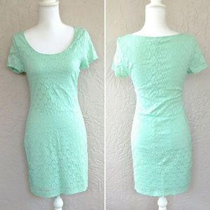 Isaac Mizrahi mint lace sheath dress